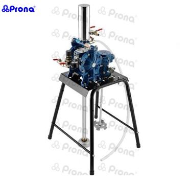 Máy bơm sơn dùng hơi kết hợp cây khuấy sơn PRONA R-1500L-B